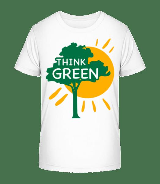 Think Green - Kid's Premium Bio T-Shirt - White - Vorn