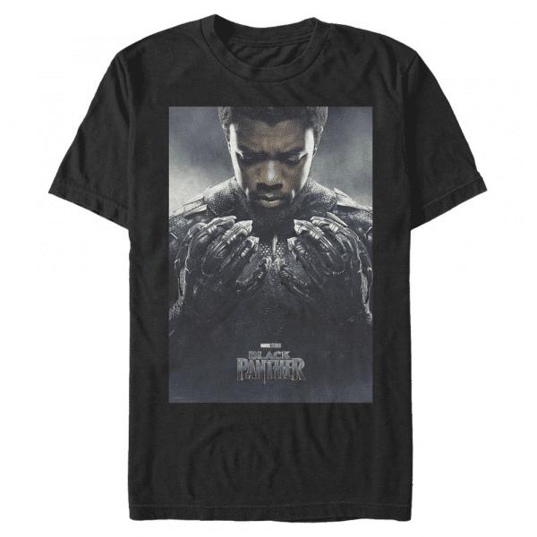 Tchalla Poster T'Challa - Marvel Black Panther - Men's T-Shirt - Black - Front