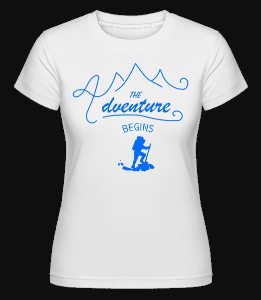The Adventure Begins - Shirtinator Frauen T-Shirt - Weiß - Vorn