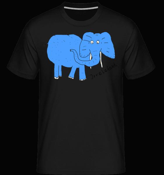 Irrelefant - Shirtinator Männer T-Shirt - Schwarz - Vorn