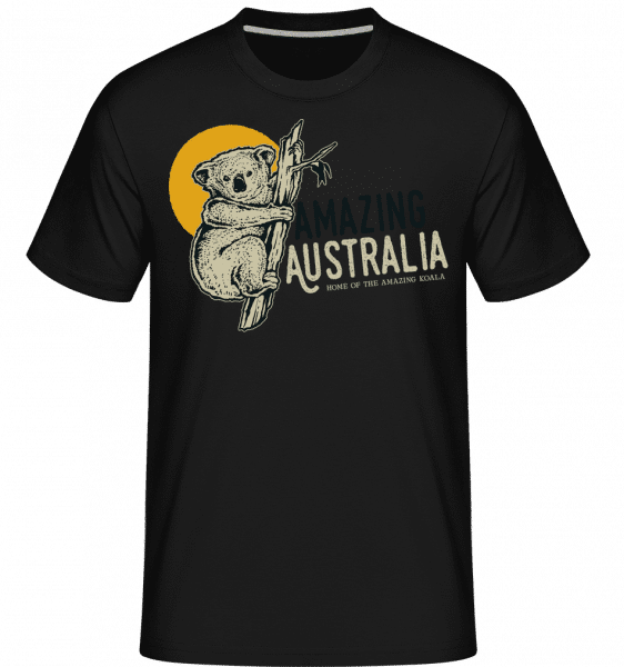 Koala Amazing Australia -  Shirtinator Men's T-Shirt - Black - Front