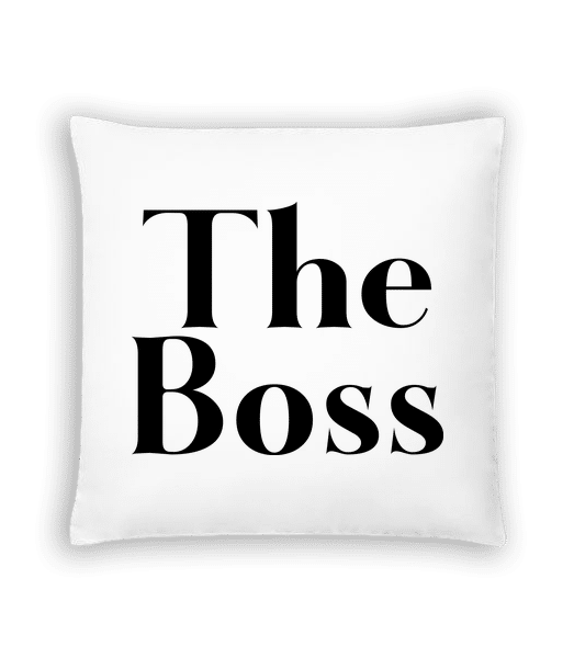 The Boss - Cushion - White - Vorn