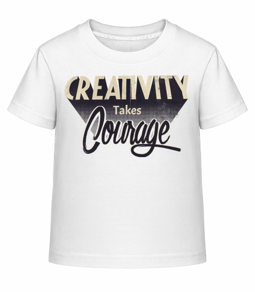 Creativity Takes Courage - Kinder Shirtinator T-Shirt - Weiß - Vorn