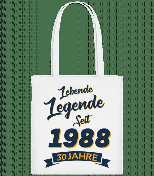 Legende Jahrgang 1988 - Stoffbeutel - Weiß - Vorn
