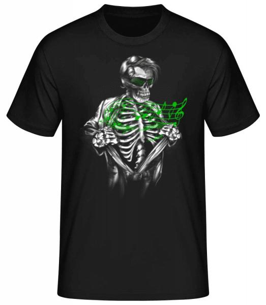 Music Of The Dead - Men's Basic T-Shirt - Black - Front