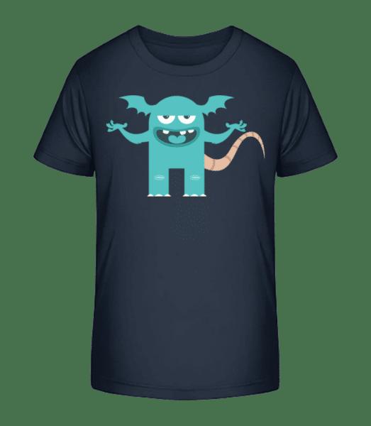Monstre Drôle - T-shirt bio Premium Enfant - Bleu marine - Vorn