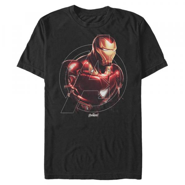 Iron Hero Iron Man - Marvel Avengers Endgame - Men's T-Shirt - Black - Front