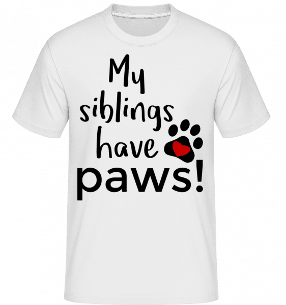 My Siblings Have Paws -  Shirtinator Men's T-Shirt - White - Vorn