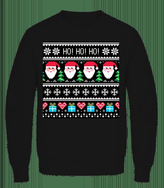 Ugly Ho Ho Ho - Men's Sweatshirt AWDis - Black - Vorn