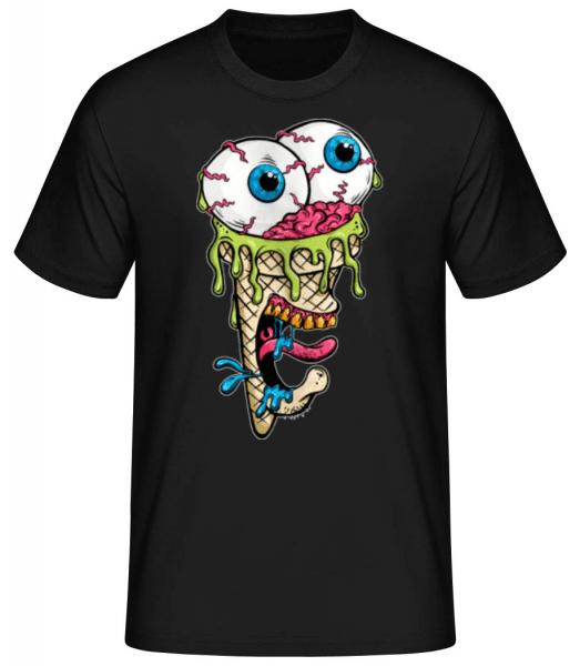 Horror Ice Cream - Men's Basic T-Shirt - Black - Front
