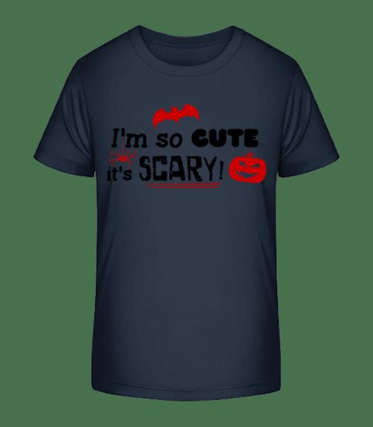 So Cute It's Scary - Detské Premium Bio tričko - Namořnická modrá - Napřed