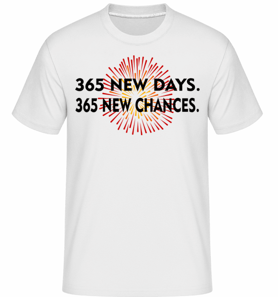 365 Days New Chances -  Shirtinator Men's T-Shirt - White - Front