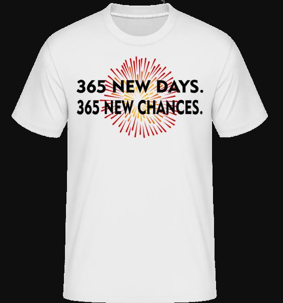 365 Days New Chances -  Shirtinator Men's T-Shirt - White - Vorn