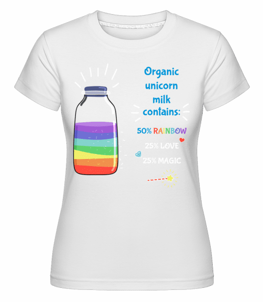 Organic Unicorn Milk - Shirtinator Frauen T-Shirt - Weiß - Vorn