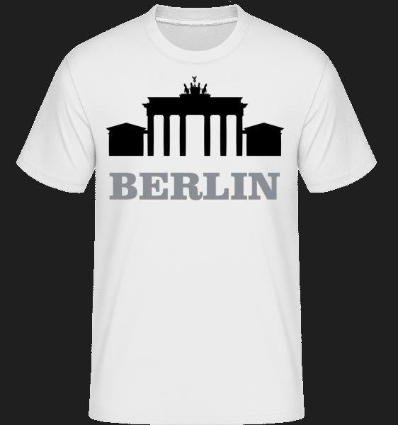 Berlín Skyline -  Shirtinator tričko pro pány - Bílá - Napřed