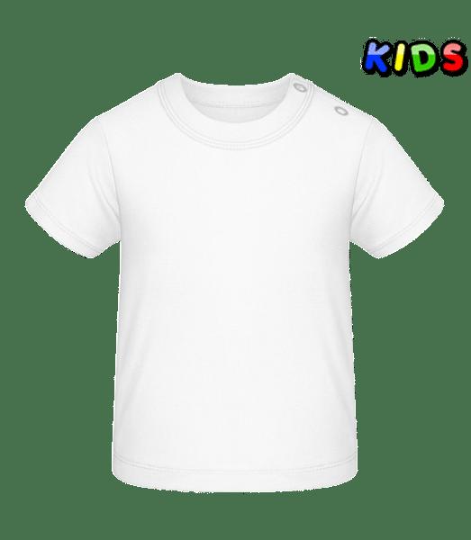 T-shirt Bébé - Blanc - Vorn