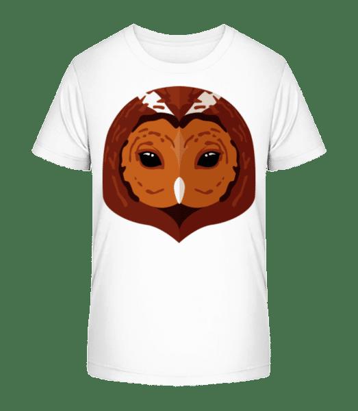 Owl Comic Shadow - Kid's Premium Bio T-Shirt - White - Vorn