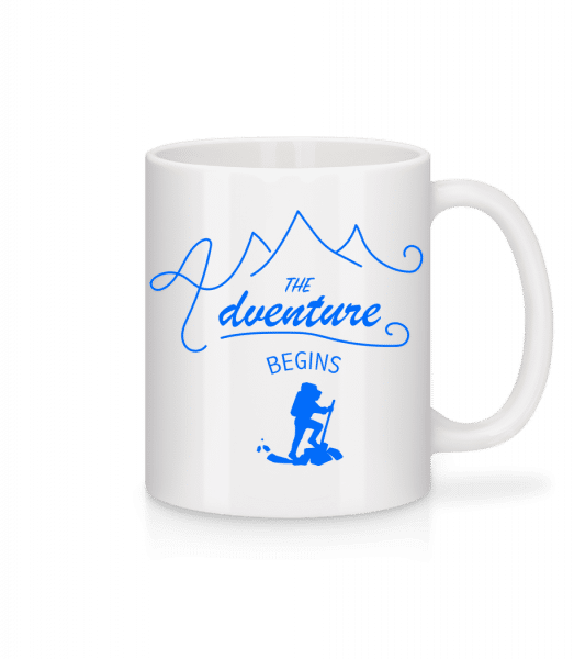 The Adventure Begins - Mug - White - Vorn
