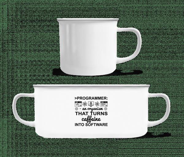 Caffeine Into Software - Enamel-cup - White - Vorn