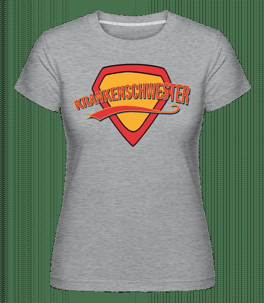 Superheldin Krankenschwester - Shirtinator Frauen T-Shirt - Grau meliert - Vorn