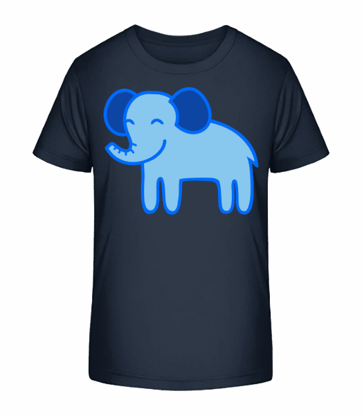 Kids Comic - Elephant - Kid's Premium Bio T-Shirt - Navy - Front