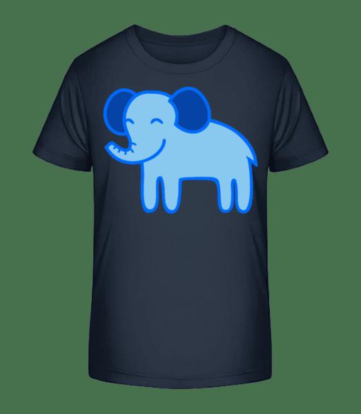 Kids Comic - Elephant - Detské Premium Bio tričko - Namornícka modrá - Predné