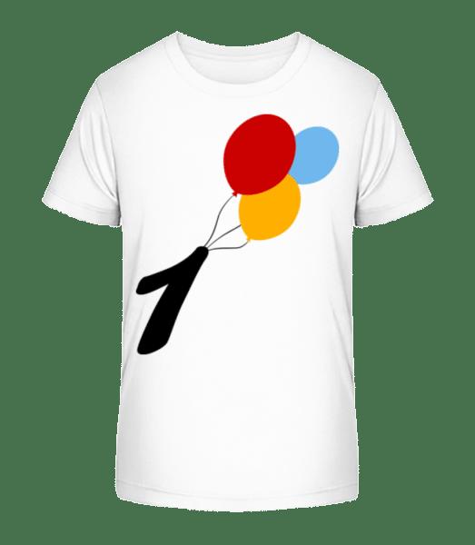 Anniversary 1 Balloons - Kid's Premium Bio T-Shirt - White - Front