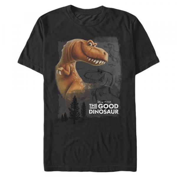 Ramsey - Pixar The Good Dinosaur - Men's T-Shirt - Black - Front
