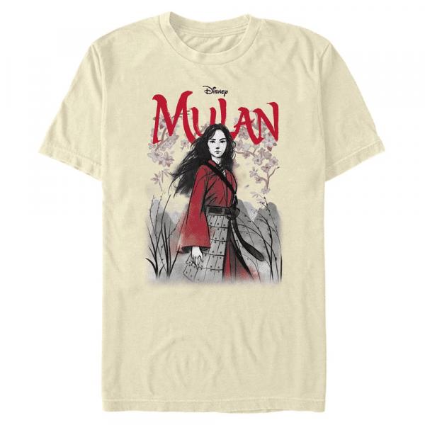 Watercolor Mulan Title - Disney - Men's T-Shirt - Cream - Front