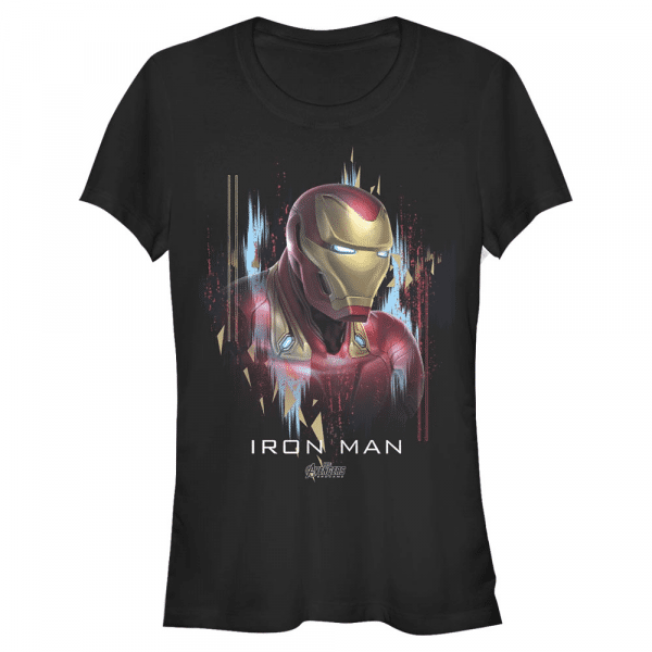 Ironman Portrait Iron Man - Marvel Avengers Endgame - Women's T-Shirt - Black - Front