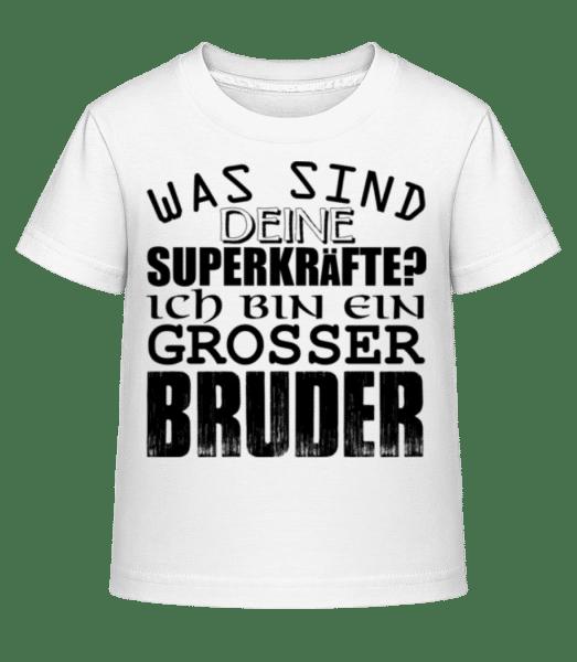 Superkräfte Grosser Bruder - Kinder Shirtinator T-Shirt - Weiß - Vorn