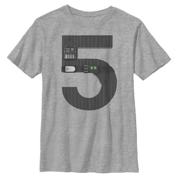 Vader Five Darth Vader - Star Wars - Kids T-Shirt - Heather grey - Front