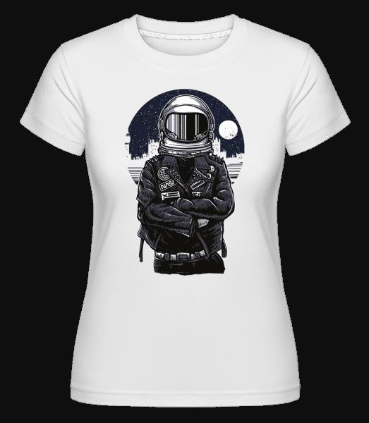 Astronaut Rebel -  Shirtinator Women's T-Shirt - White - Vorn