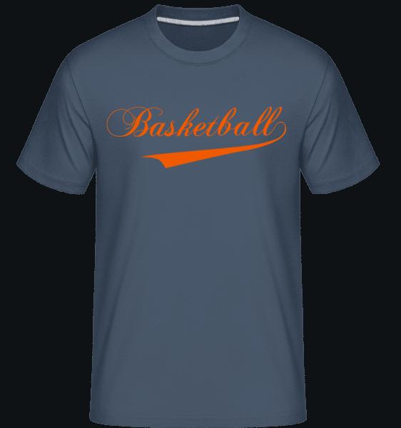 Basketball Stroke -  Shirtinator Men's T-Shirt - Denim - Vorn
