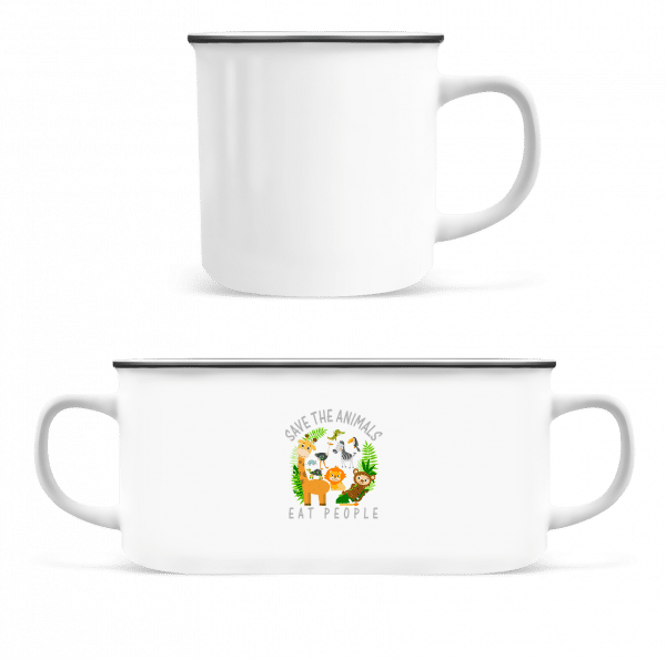 Save The Animals - Enamel-cup - White - Vorn