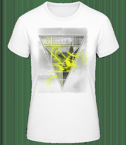 Skyline Triangle - Dámske basic tričko - Biela - Predné