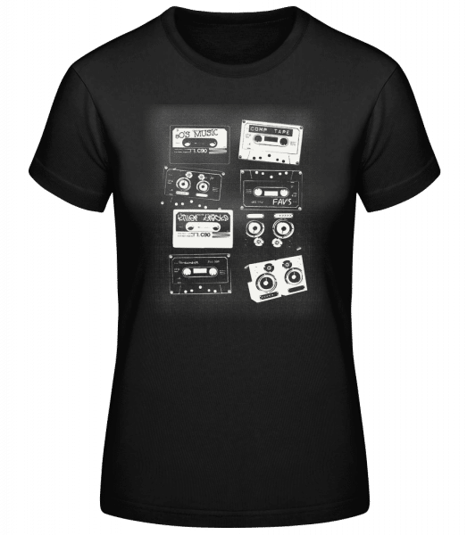 Old Cassettes - Basic T-Shirt - Black - Vorn