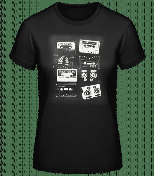 Old Cassettes - Basic T-Shirt - Black - Vorn