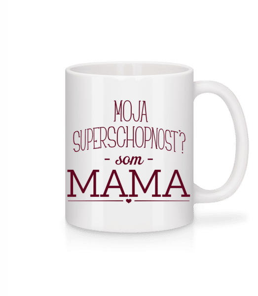 Superpower Mama - Mug - White - Vorn