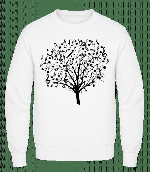 Music Tree - Classic Set-In Sweatshirt - White - Vorn
