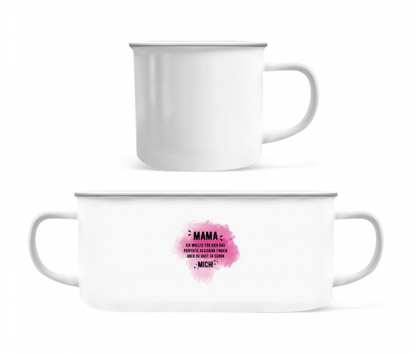 Mama Did Yes Already Me - Enamel-cup - White - Vorn