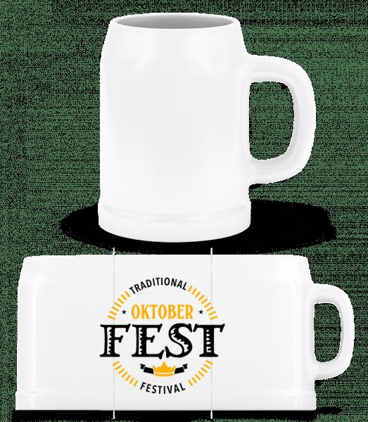 Traditional Oktober Festival - Bierkrug - Weiß - Vorn