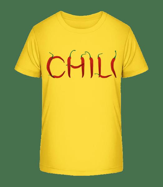 Chili - Kinder Premium Bio T-Shirt - Gelb - Vorn