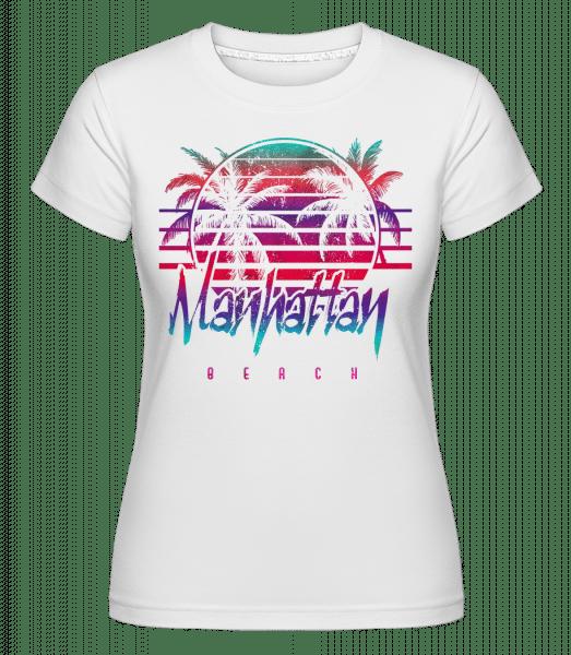 Manhattan Beach -  Shirtinator Women's T-Shirt - White - Vorn