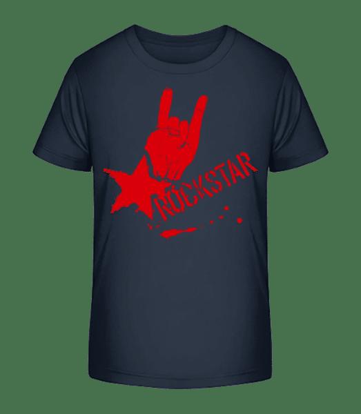 Rockstar Symbol - Kinder Premium Bio T-Shirt - Marine - Vorn