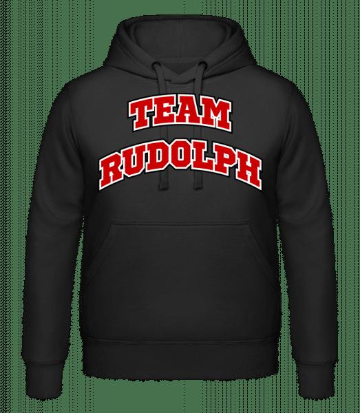 Team Rudolph - Kapuzenhoodie - Schwarz - Vorn