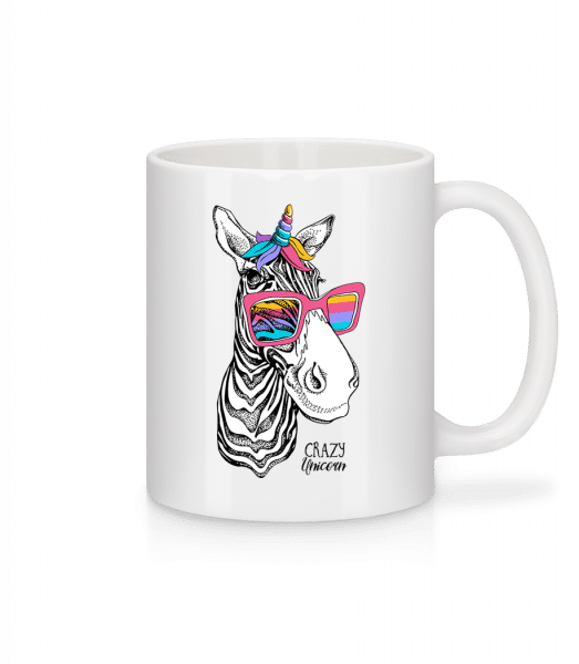 Crazy Unicorn - Mug - White - Vorn