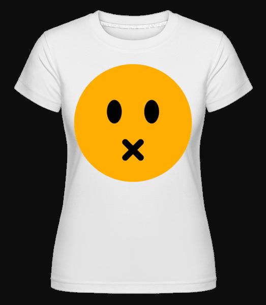 Silent Smiley -  Shirtinator Women's T-Shirt - White - Vorn