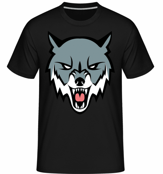 Angry Wolf -  Shirtinator Men's T-Shirt - Black - Vorn