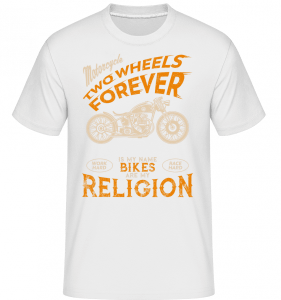 Bikes Are My Religion - Shirtinator Männer T-Shirt - Weiß - Vorn